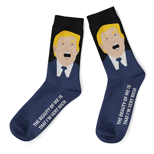 Donald Trump Socks Wizzitex
